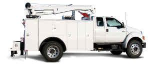Truck with crane body