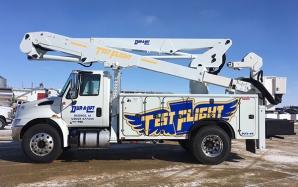 Test Flight boom/bucket truck