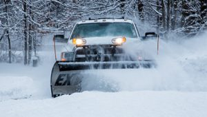 Truck with SnowDogg snow plow
